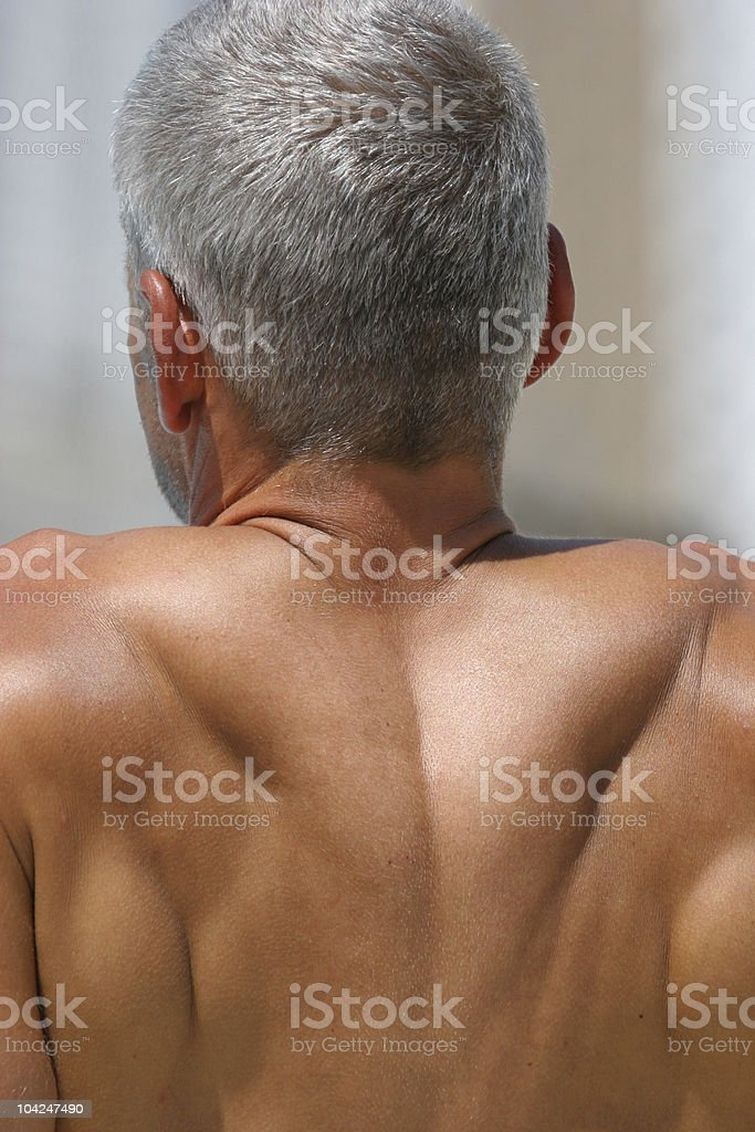 Middle age man from the back royalty-free stock photo