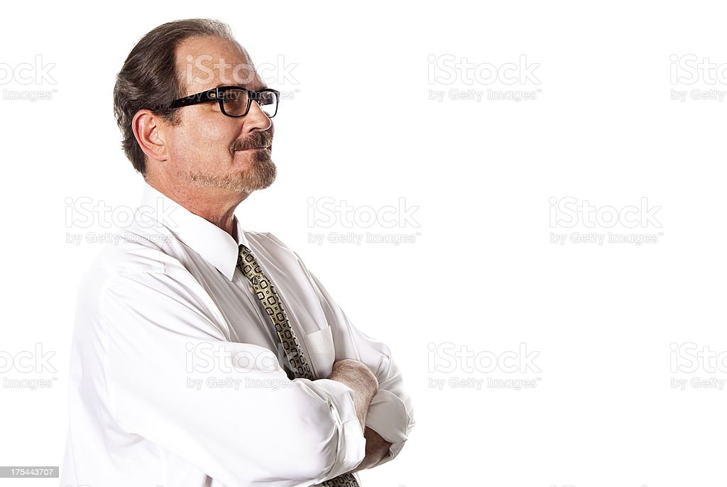 Middle Age Man on White royalty-free stock photo