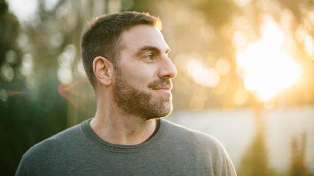 Middle age man portrait stock photo