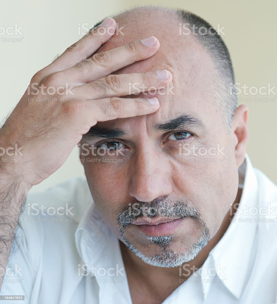 Middle age Problems royalty-free stock photo