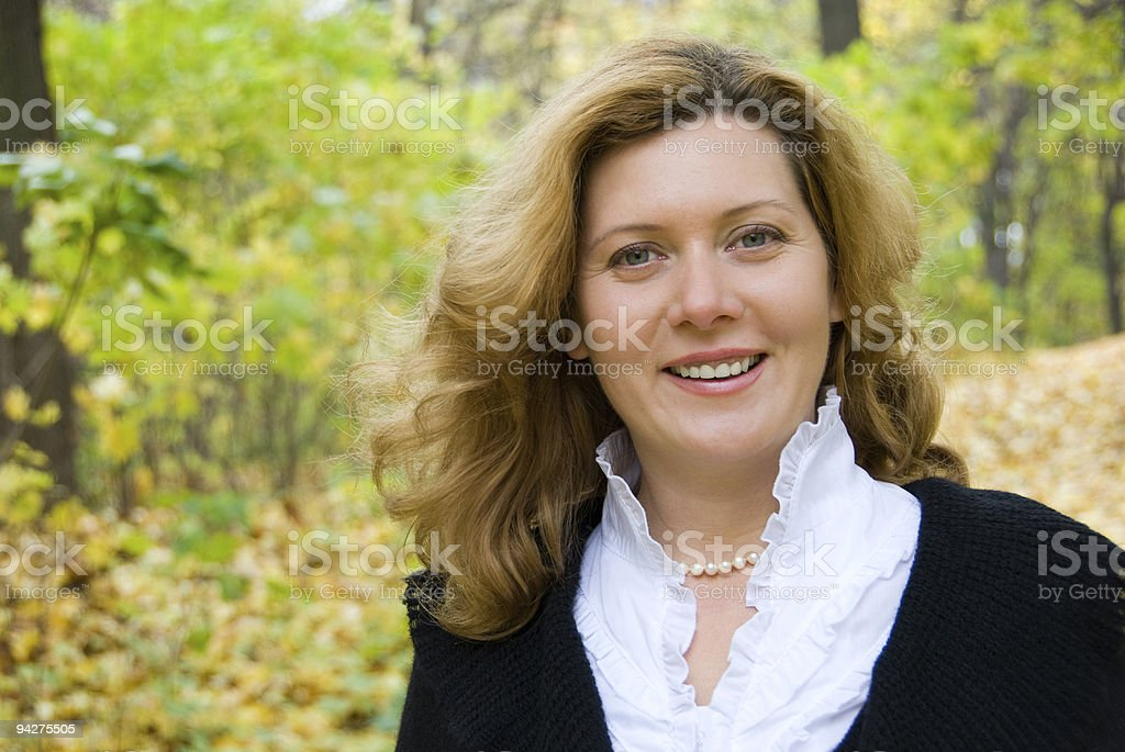 Middle age woman royalty-free stock photo
