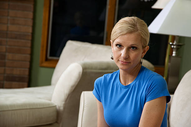 middle aged attractive female stock photo