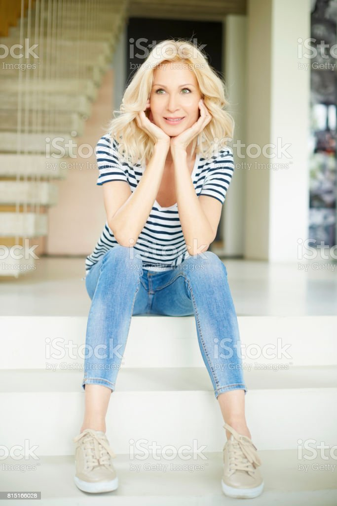 Middle aged beauty stock photo