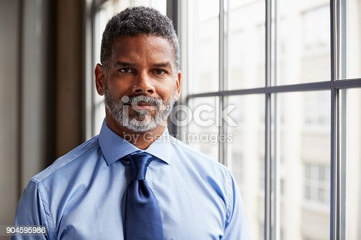 istock Middle aged black businessman looking to camera 904595986