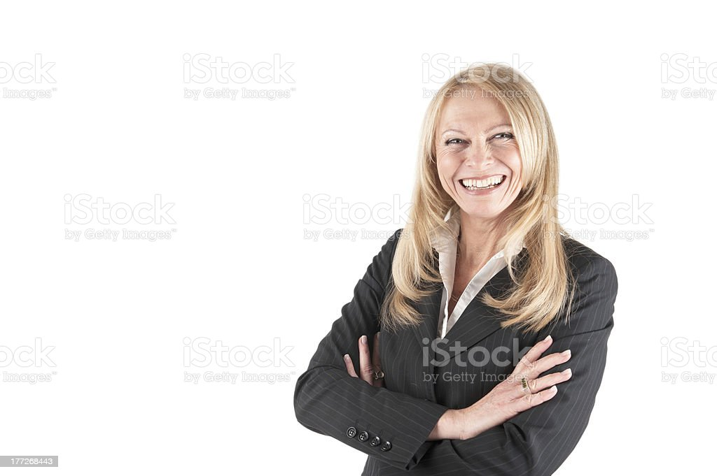 Middle aged Business woman stock photo
