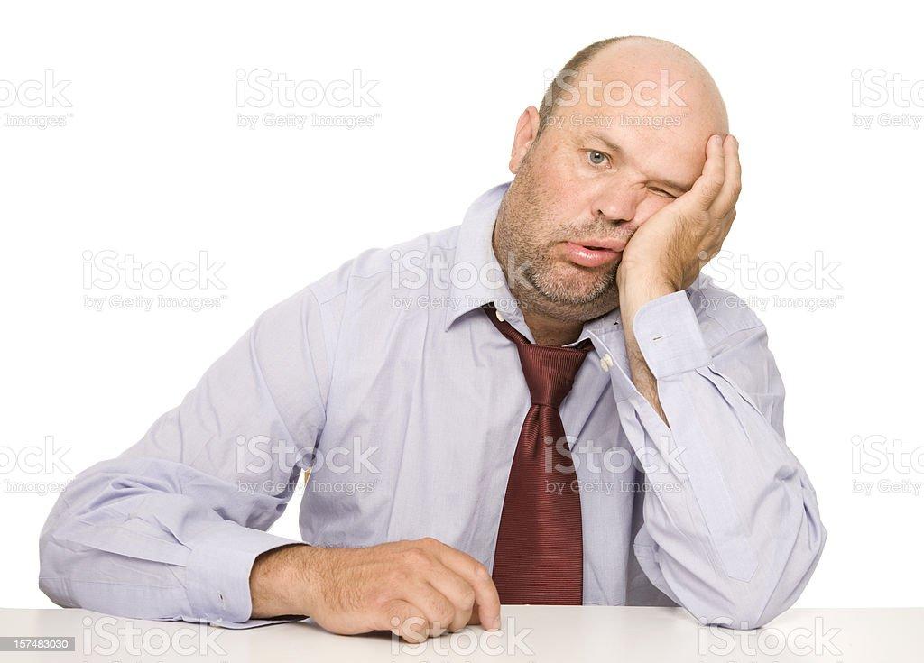 Ein deprimierter Business Mann – Foto