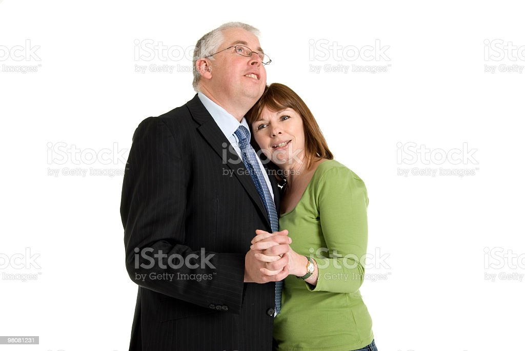 Middle Aged Couple Dancing royalty-free stock photo
