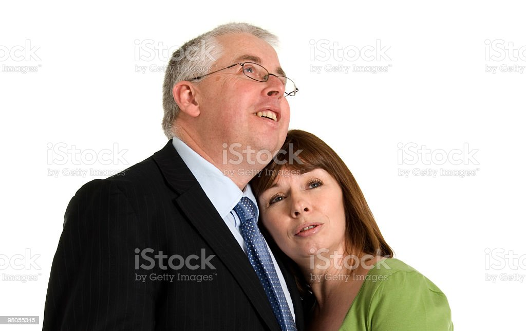 Middle Aged Couple Hugging royalty-free stock photo