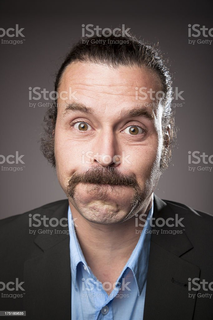 Middle aged Man Expressions - Fed-up royalty-free stock photo