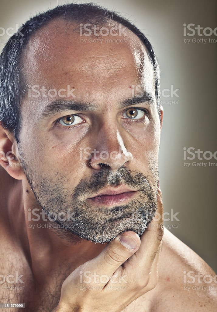 Middle aged man portrait royalty-free stock photo