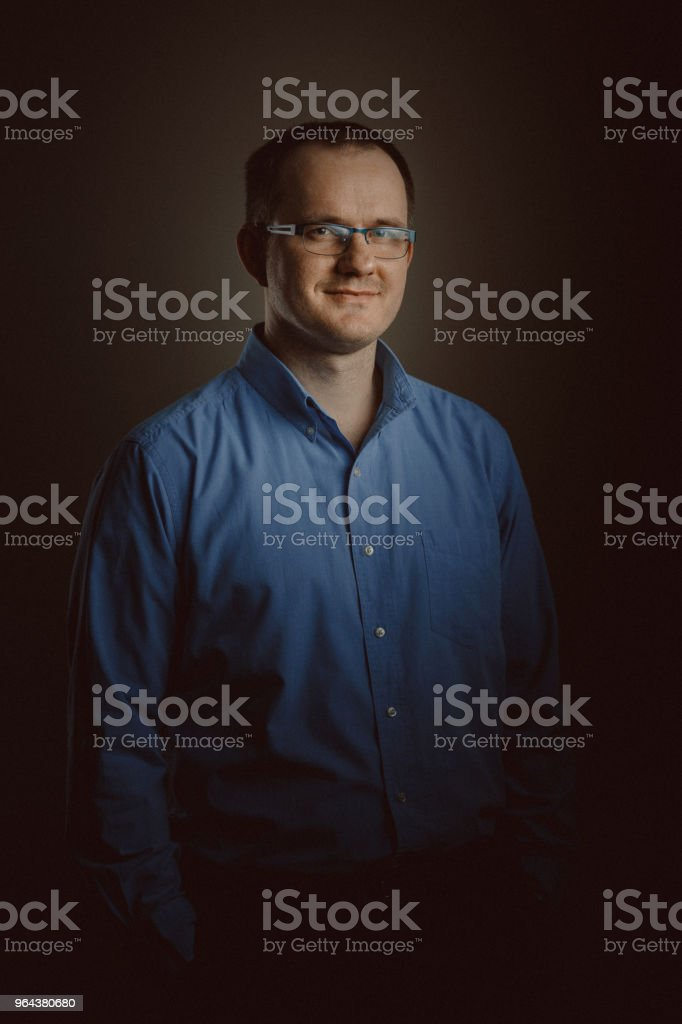 Middle Aged Man portret - Royalty-free 40-49 jaar Stockfoto