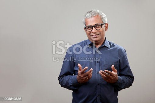 Middle aged man with pleasant face