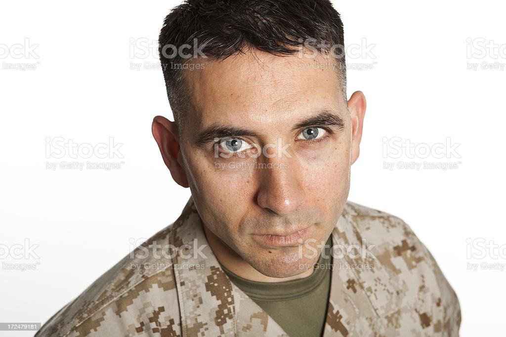 Middle Aged Marine royalty-free stock photo