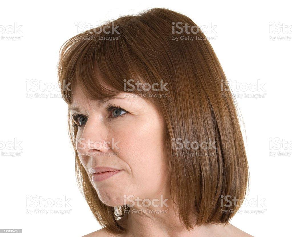 Medio invecchiato donna faccia foto stock royalty-free
