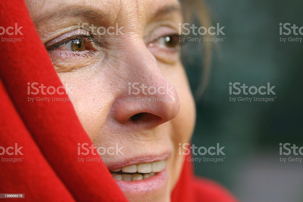 middle aged woman stock photo