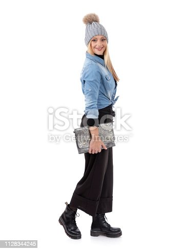 636803682 istock photo Middle aged woman wanna be fashion model 1128344245