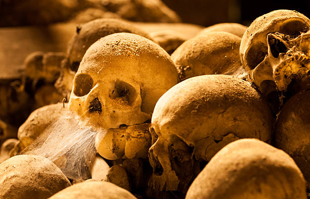 Middle ages skulls stock photo