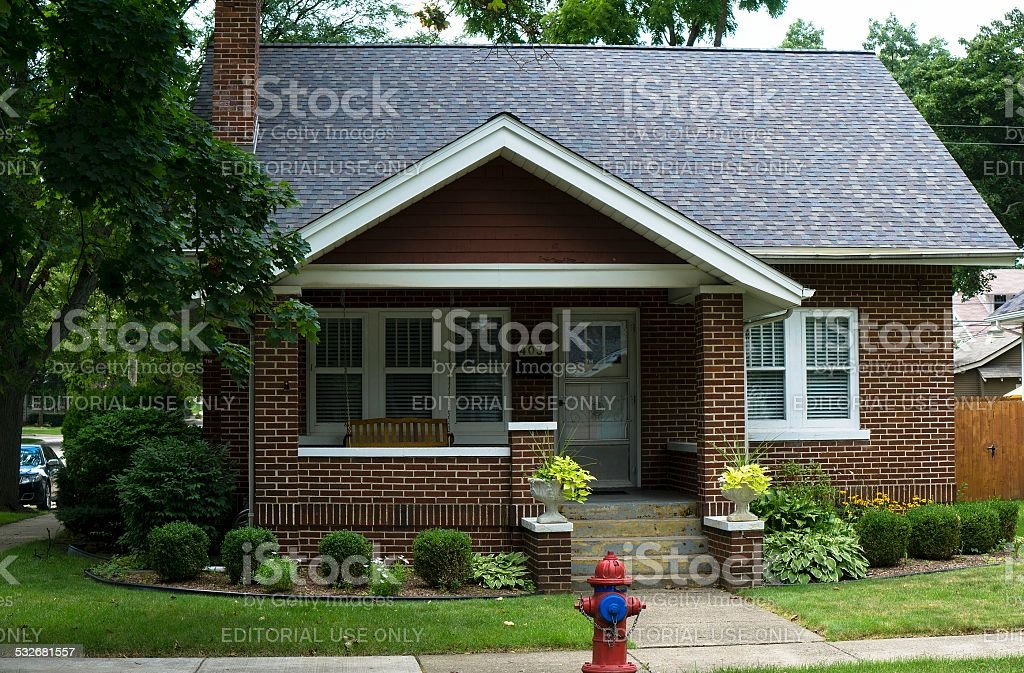 Middle Class American House stock photo