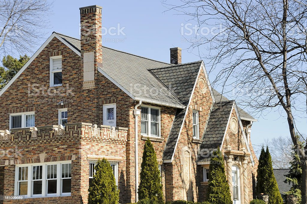 Middle Class Midwest House royalty-free stock photo