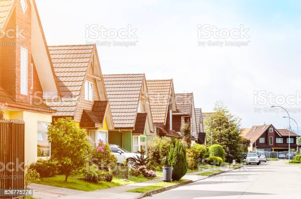 Typical american neighborhood for middle class