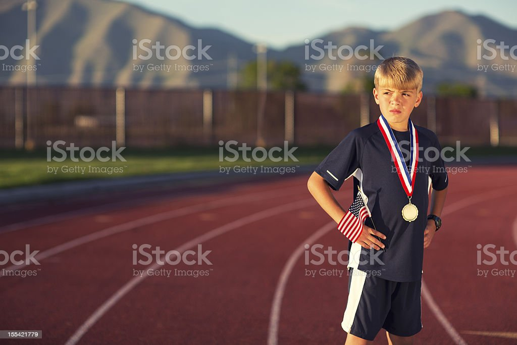 Middle Distance Champion stock photo