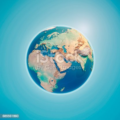 istock Middle East 3D Render Planet Earth 685561860