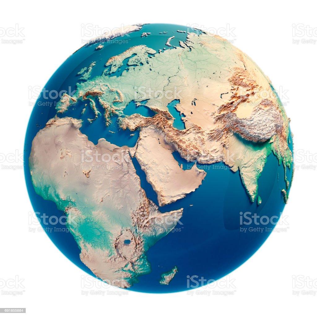 Nahen Osten 3D-Render Planetenerde – Foto