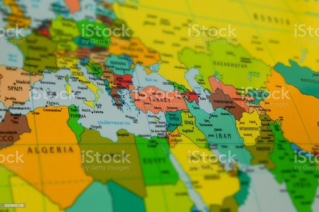 Carte De Lafrique Et Leurope.Photo Libre De Droit De Moyenorient Lafrique Et Leurope La