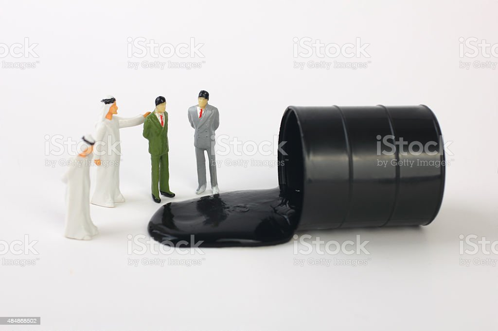 Middle east and western businessmans stock photo