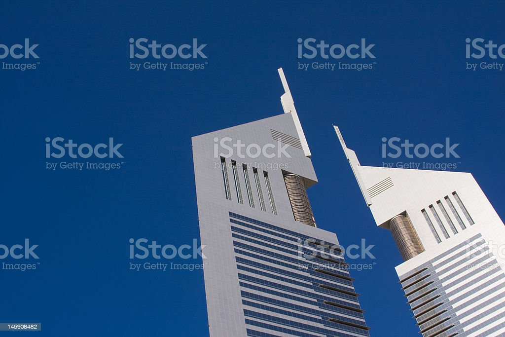 middle east city skyline skyscrapers stock photo