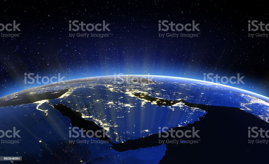 Middle East. Elements of this image furnished by NASA – zdjęcie