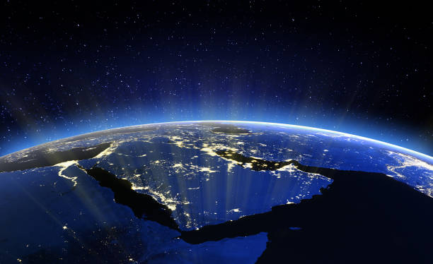 Middle East. Elements of this image furnished by NASA stock photo