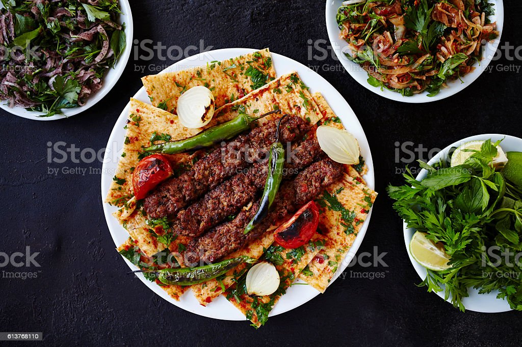 Middle East Food Culture - Shish Kebab stock photo