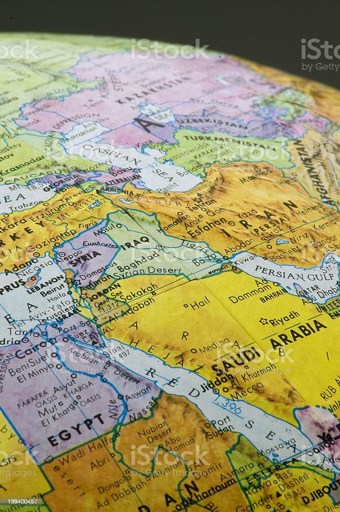 Middle East Map 2 stock photo