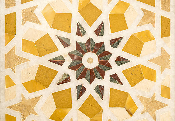 Middle East tile mosaic stock photo