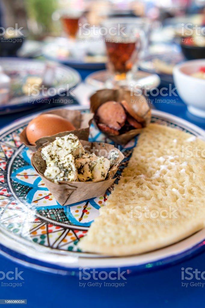 Middle Eastern appetizer platter stock photo