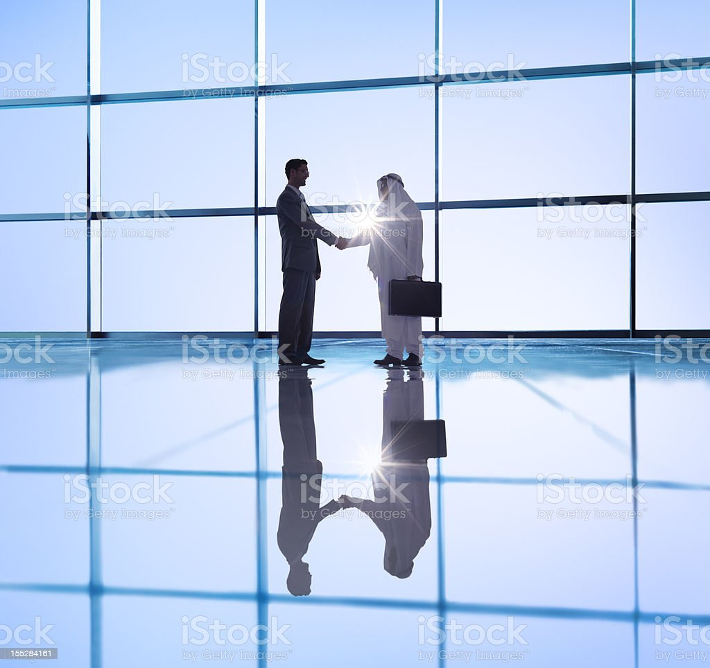 Middle eastern business agreement royalty-free stock photo