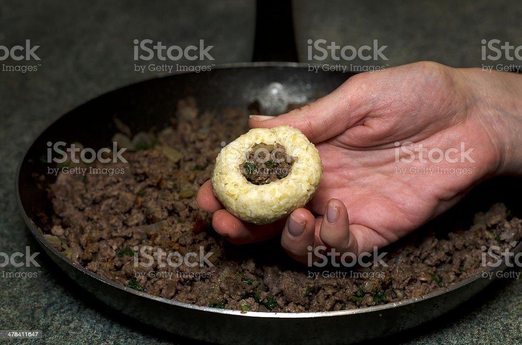 Middle Eastern cuisine - Kubbeh matfuniya royalty-free stock photo