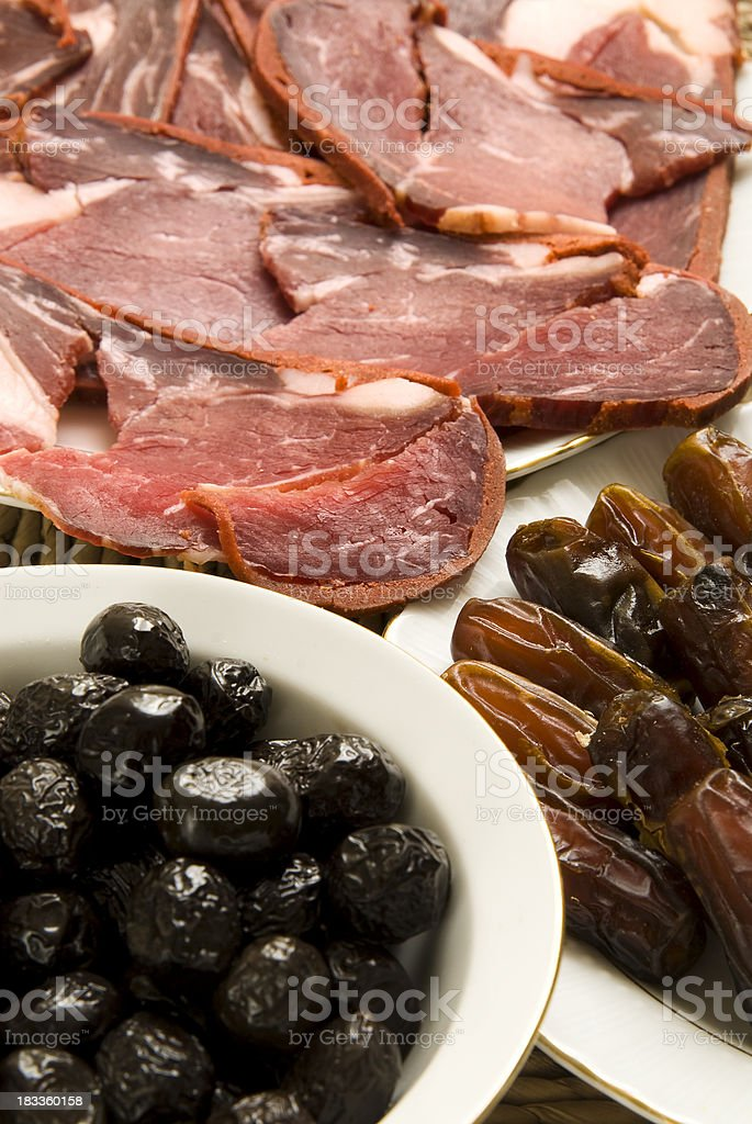 Middle Eastern Cuisine stock photo