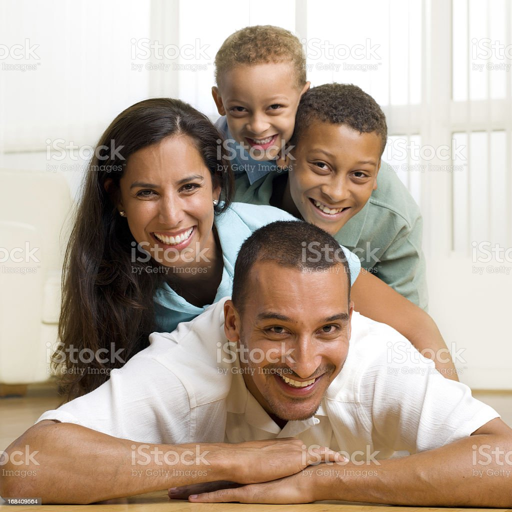 Middle Eastern Family Portrait royalty-free stock photo