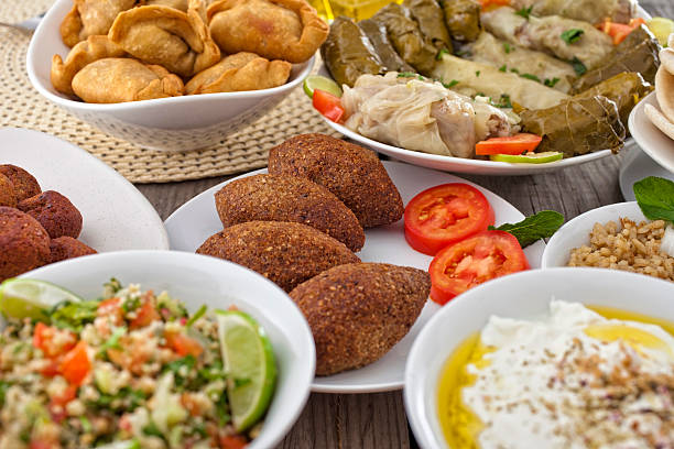 cuisine du moyen-orient - liban photos et images de collection