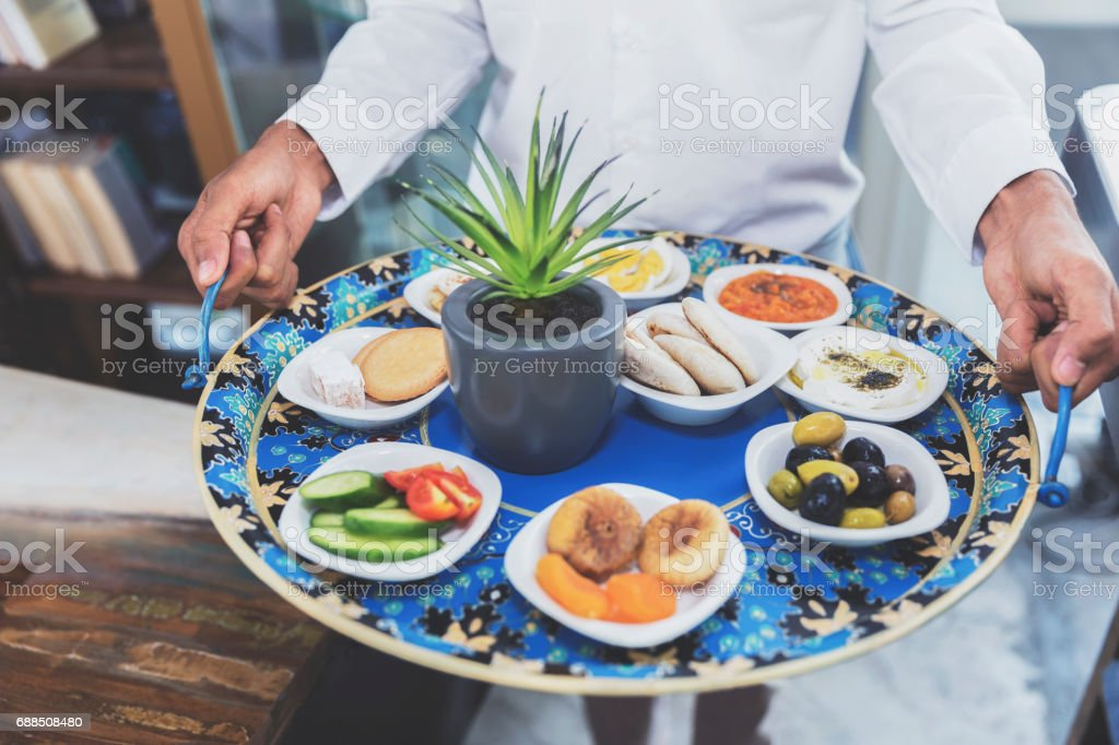 Middle Eastern Food Platter stock photo
