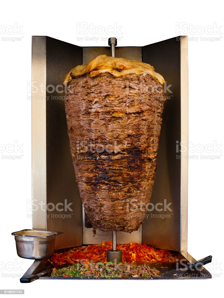 Middle Eastern Grilled Lamb Kebab Meat Isolated stock photo