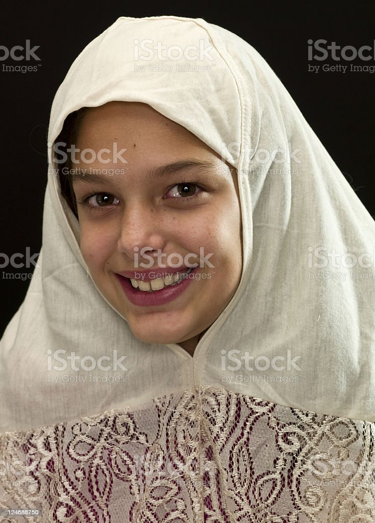 Middle Eastern Little school Girl royalty-free stock photo