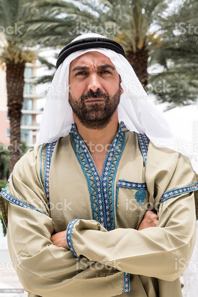 Middle eastern man stock photo