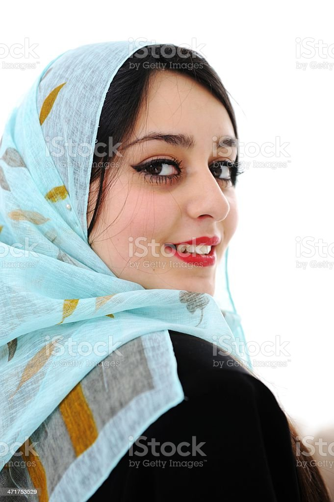 Middle eastern woman portrait stock photo