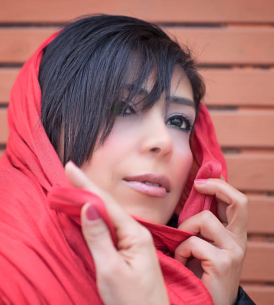 Middle eastern woman with Headscarf stock photo