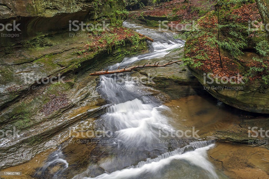 Middle Falls at Old Man's Cave royalty-free stock photo