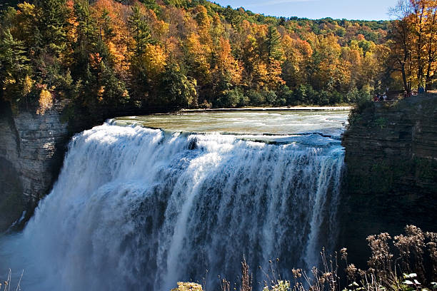 Middle Falls, Letchworth State Park stock photo