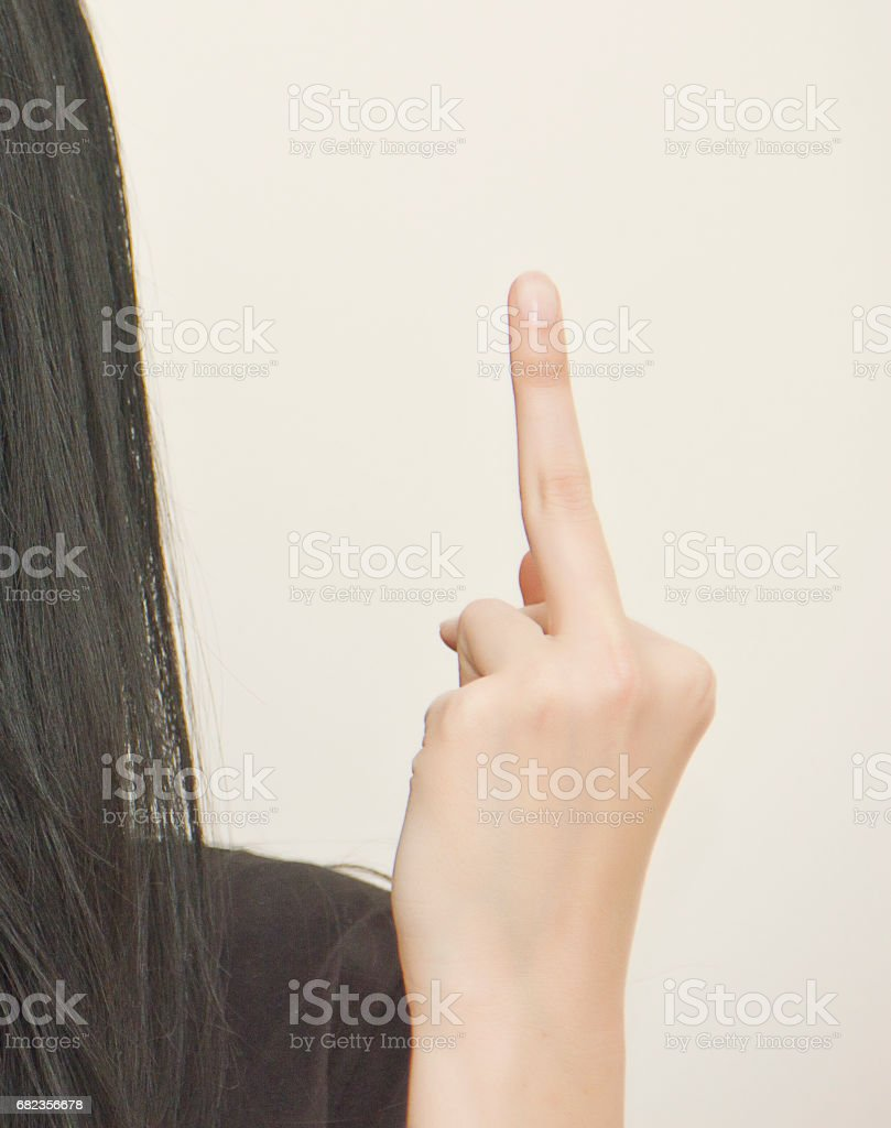 Middle fingers royaltyfri bildbanksbilder